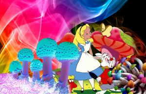 Alice in Shroom Land by blackrose91594