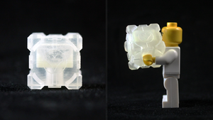 LEGO 3D Printed Companion Cube by mingles