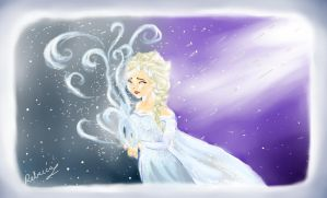 Elsa the snow queen from Frozen by MlleBeckieR