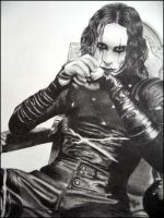 The Crow in pencil by lunchboxith