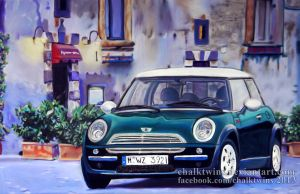 Mini Coop by ChalkTwins