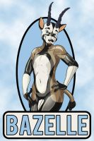Bazelle the Horny 'Lil Shiny Latex Gazelle (Badge) by lyctiger