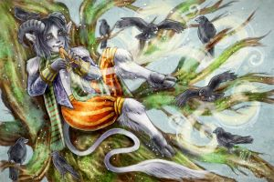 The Flute Faun by helloheath