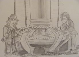 Dr Who 4 + 10 Quick Sketch by DragonPress