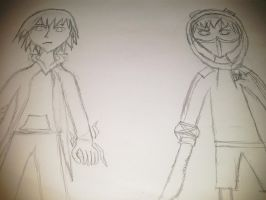CREEPYPASTA OCS - Travis Vs XILLE *WIP* by Stormtali