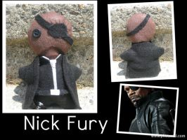 S.H.I.E.L.D. Director Nick Fury -The Plushies- by calceil