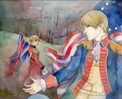 Fanart: Hetalia USUK - Civil war by Kuno-san