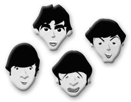 Beatles Faces by FauxHead