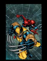 Joe Mad Wolverine Spiderman Colors by likwidlead
