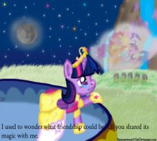 I used to wonder what friendship could be. by gregeyman555
