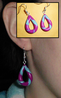 Colorful Drop Earrings by UniqueTreats