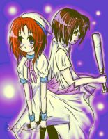 Rena and Keiichi by Aircey