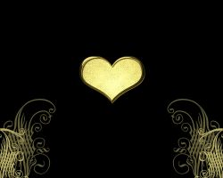 gold heart 2 by maryduran
