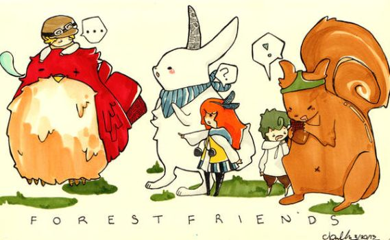 Forest Friends by Ake-Shii