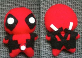 Deadpool Plushie by CheesyHipster