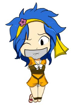 Chibi Levy McGarden tied up by SuperBird43