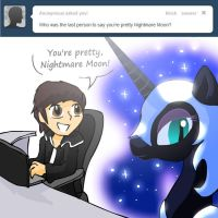 Ask Nightmare Moon Headquarters - question 1 by alfa995