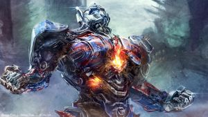 Optimus Prime Digital Painting by minifong