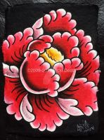 Red Peony by Vicki-Death