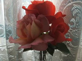 Pink Roses Stock by DemoncherryStock