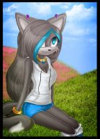 Art Trade With Blue-DT by Aritasum