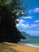 Secret Beach, Kauai by Utukki-Girl