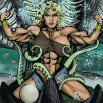 Female Muscle v. Monsters: Quest for the Pearl by IHCOYC