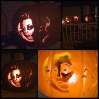 Mrs. Lovett Pumpkin :D by AlouetteCosplay