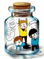 star trek on a bottle by chikanarusoubi