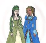 Jeanette and Roxy Tudor Style by 13foxywolf666