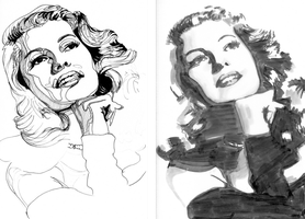 Rita Hayworth study by jagarujimbo