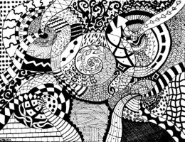 Zentangle: We're going down by justayelbee