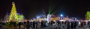 Bucharest Christmas Market 360 Panorama by DanielComan