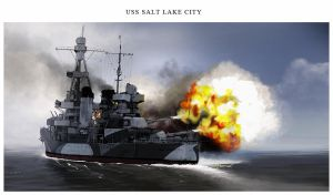 USS Salt Lake City by dugazm