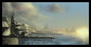 Cove concept painting by highdarktemplar