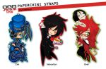 PaperChibi Straps: Kuroshitsuj by spam-inc