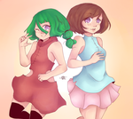 Sisterly lovee by SoupofFlies