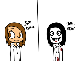 Jeff: Before And After. by iGingie