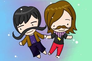 Mustaches Forever by zolecito