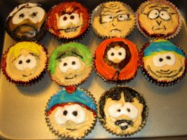 South Park Cupcakes by NarcolepticXPanda