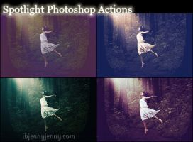 Spotlight Photoshop Actions by ibjennyjenny