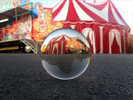the circus is in town . Le cirque est en ville by April-Mo