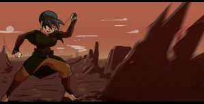 Older Toph's Violence by morganagod