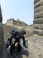 Ironhide On The Great Wall II by Letohatchee