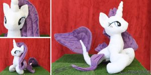 Rarity Inspired Hippocampus Plushie by LiChiba