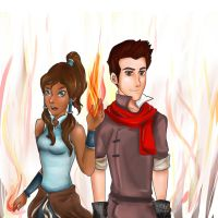 Korra And Makko by JessyMcBump