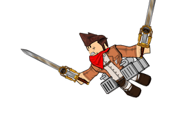 Attack on ROBLOX Cel Shading Test by IBarrageI