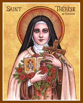 St. Therese icon by Theophilia