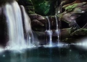 ...::: Secret Waterfalls :::... by AmorpheusArt