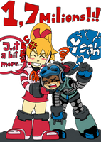 MIGHTY No9 - PASSING 1.7 MILIONS - COLORED PNG by mdkex
